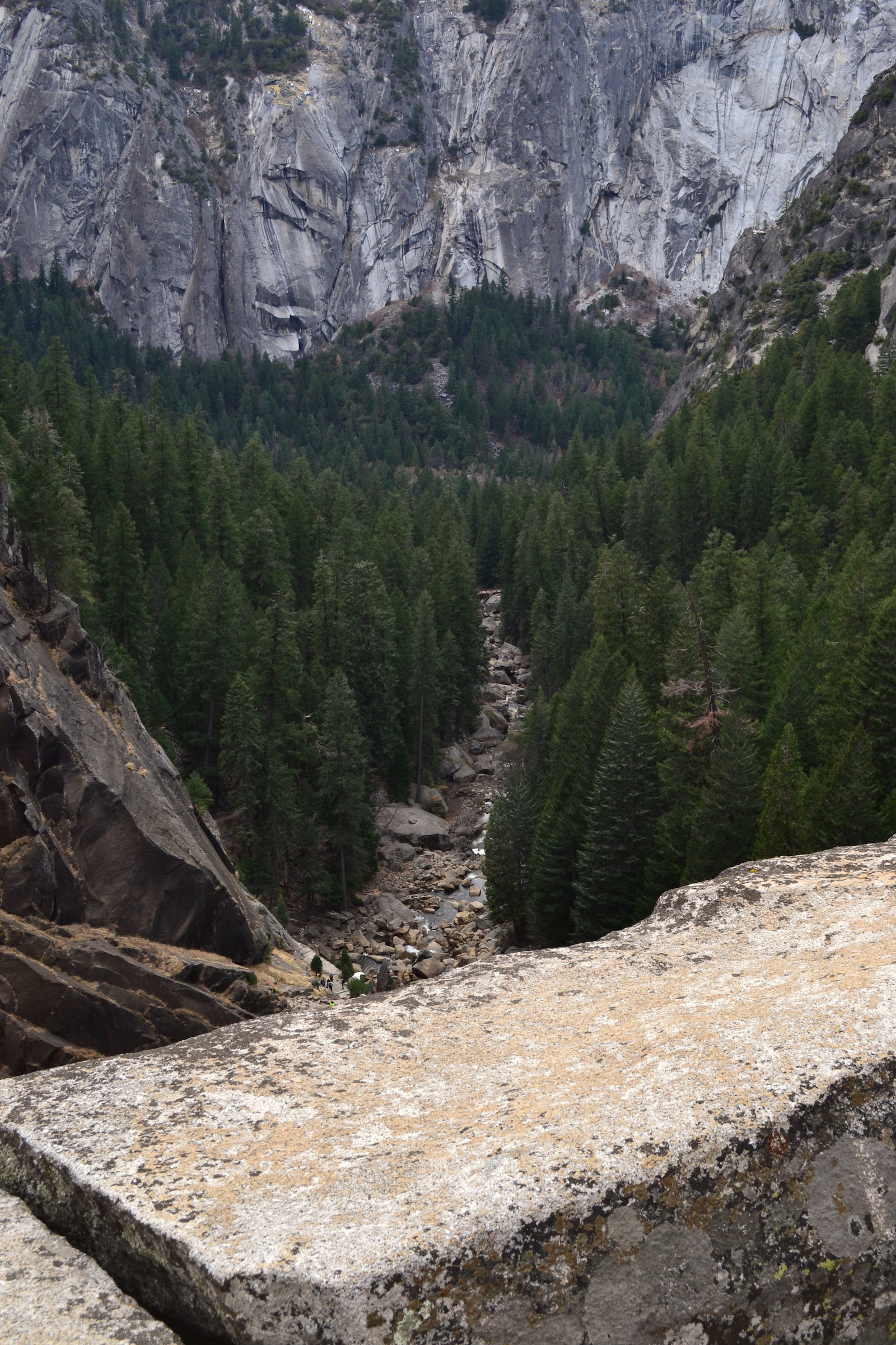 View from the top of the Vernal Falls Trail
