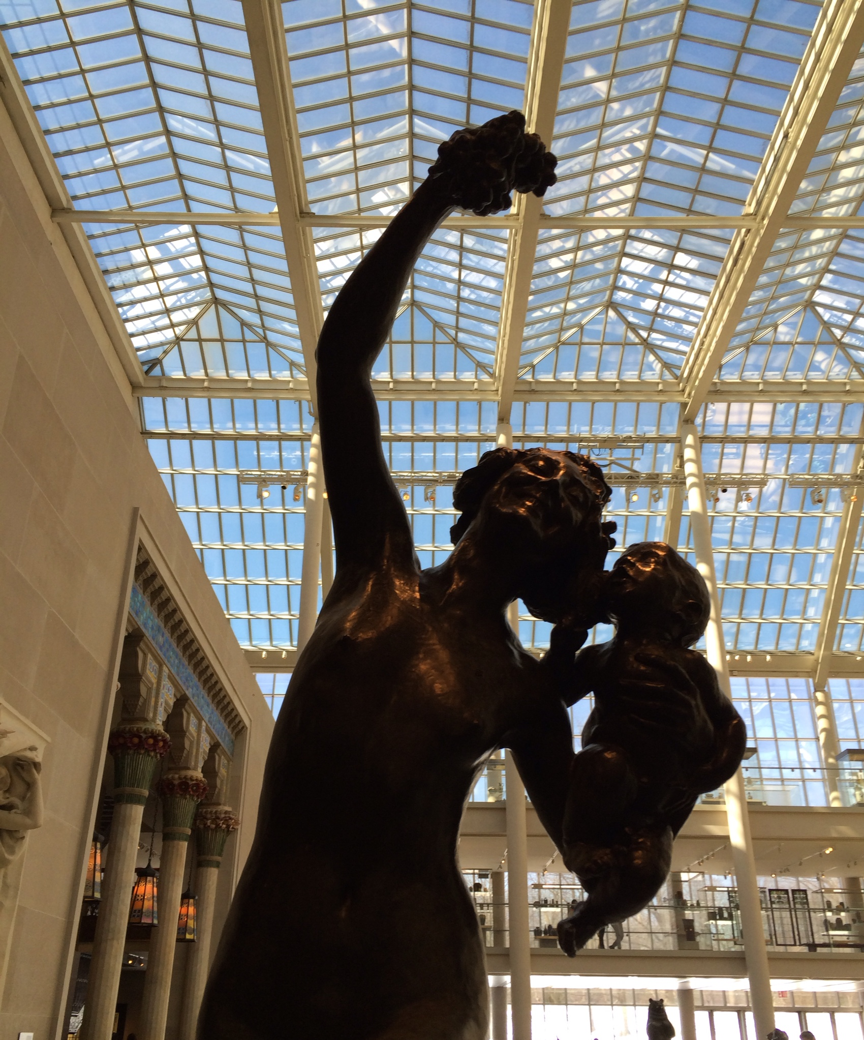 Frederick William McMonnies' Bacchante and Infant Faun, American Wing - The Charles Engelhard Court, The Met