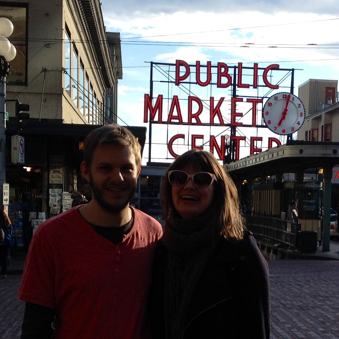 Rob and Liv at Pike Place 2014