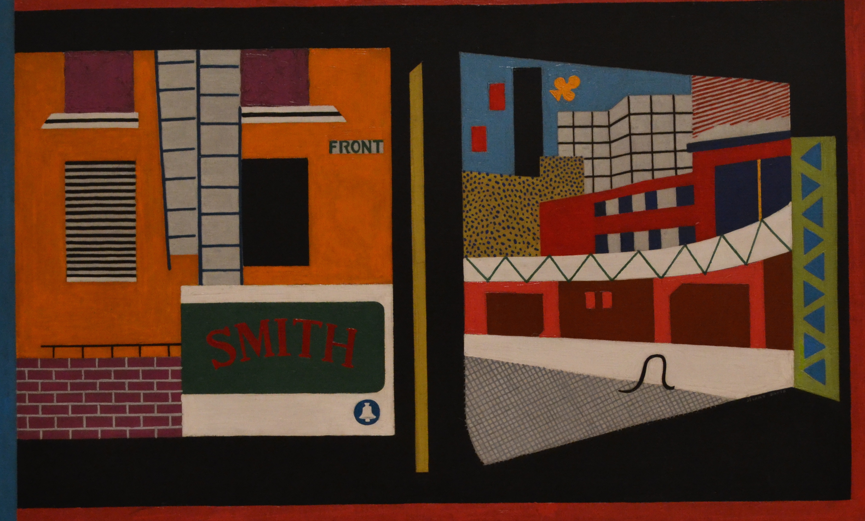 Stuart Davis - House and Street